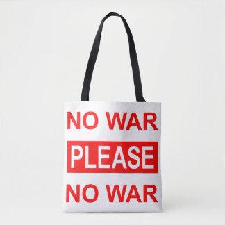 La ninguna de la guerra bolsa de asas por favor -