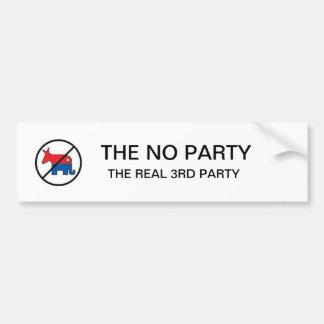 La NINGUNA pegatina para el parachoques política d Pegatina De Parachoque