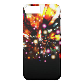 La noche colorida brillante de la chispa enciende funda para iPhone 8/7
