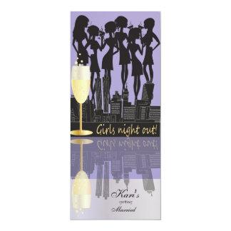 La noche de los chicas hacia fuera va de fiesta el invitación 10,1 x 23,5 cm