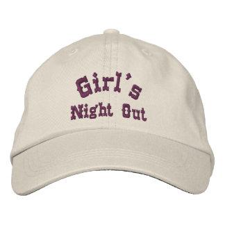 La noche del chica hacia fuera divertida gorras de béisbol bordadas