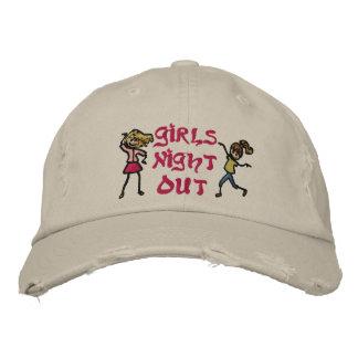 La noche del chica hacia fuera gorra de beisbol
