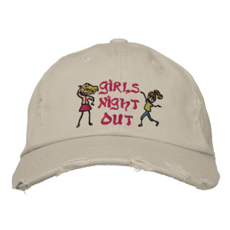 La noche del chica hacia fuera gorra bordada