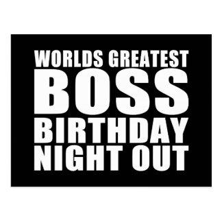 La noche más grande del cumpleaños de Boss de los  Tarjeta Postal