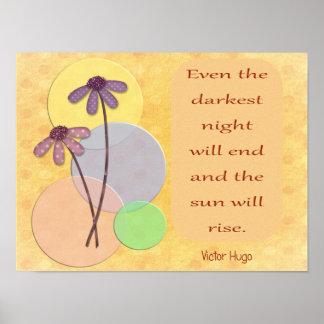 La noche más oscura terminará -- Impresión del