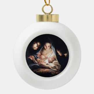 La noche santa - decoración del ornamento del