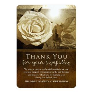 La nostalgia color de rosa de oro le agradece invitación 12,7 x 17,8 cm