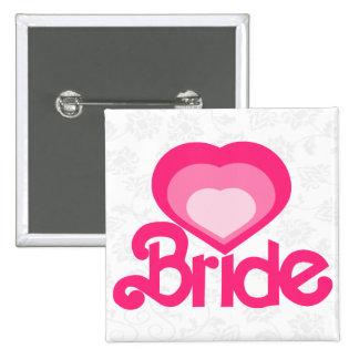 la novia, casandose chapa cuadrada 5 cm