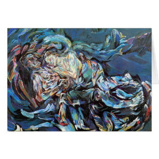 La novia del viento (la tempestad) tarjeta de felicitación