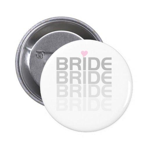 La novia gris se descolora chapa redonda de 5 cm