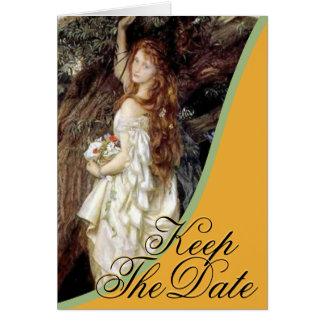 La novia - guarde la tarjeta de fecha