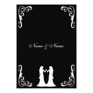 La novia y el boda lesbiano de la novia invitan invitación 12,7 x 17,8 cm