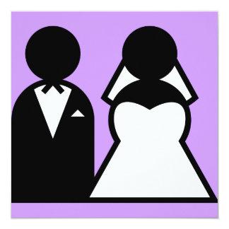 La novia y el novio invitación 13,3 cm x 13,3cm