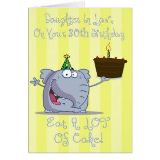 La nuera come más trigésima tarjeta de cumpleaños