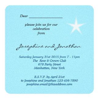La nueva casa de la estrella blanca invita invitación 13,3 cm x 13,3cm