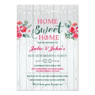 La nueva casa dulce casera que calienta llave invitación 12,7 x 17,8 cm