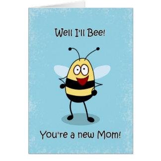 La nueva madre de la mamá de la enhorabuena, tarjeta de felicitación