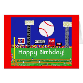 La nueva tarjeta de cumpleaños del béisbol se divi