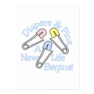 La nueva vida comienza postal