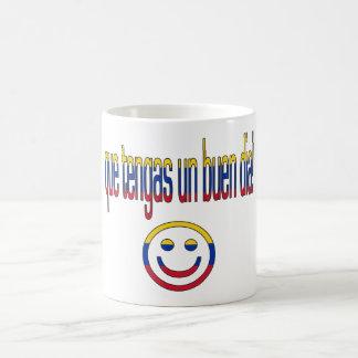 ¡La O.N.U Buen Día de Que Tengas! Colores de la ba Taza De Café