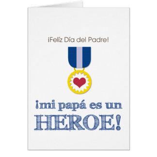 ¡La O.N.U Héroe del MI Papá es! Tarjeta De Felicitación