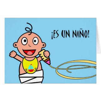 ¡La O.N.U Niño del Es! Enhorabuena en nuevo bebé Tarjeta De Felicitación