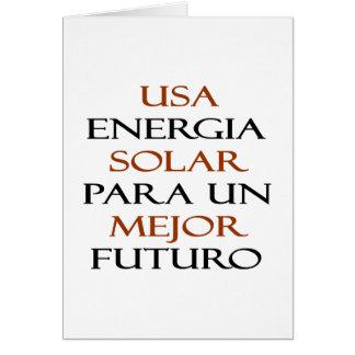La O.N.U solar Mejor Futuro de los E.E.U.U. Energi Tarjeta Pequeña