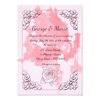 La obra clásica agradable invita al boda de las FO Invitación 12,7 X 17,8 Cm