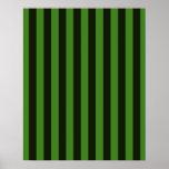 La obra clásica verde y negra vertical raya el fon poster