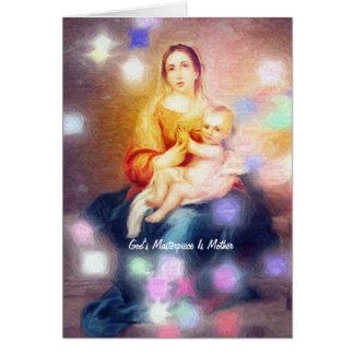 La obra maestra de dios es madre tarjeta de felicitación