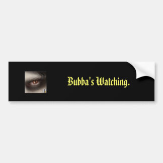La observación de Bubba Pegatina Para Coche