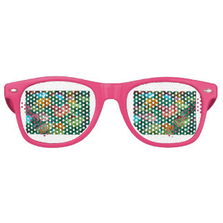 La oficina de la amapola de las amapolas gafas de fiesta retro