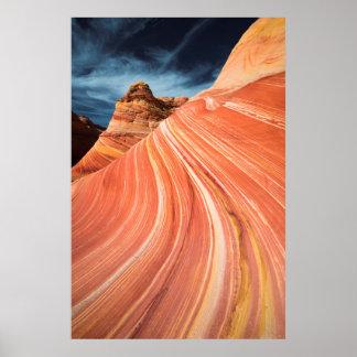 La onda, acantilados bermellones, Arizona Póster