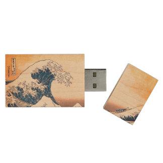 La onda memoria USB de madera