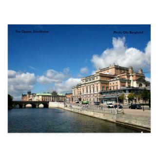 La ópera, Estocolmo, Ola B de la foto… Tarjeta Postal