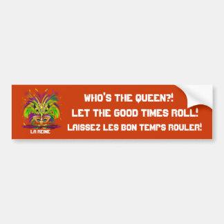 La opinión de la reina del carnaval observa por fa pegatina de parachoque