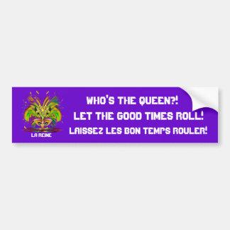 La opinión de la reina del carnaval observa por fa pegatina para coche