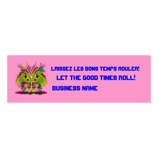 La opinión de la reina del carnaval observa por tarjetas de visita