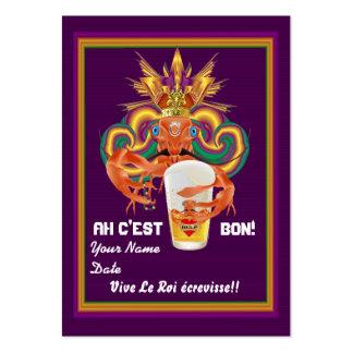 La opinión de los cangrejos del tiro del carnaval plantillas de tarjetas personales