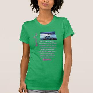 La opinión del mar del rezo de la serenidad camiseta