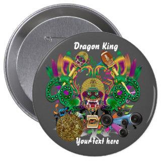 La opinión del rey del dragón del fútbol del chapa redonda de 10 cm