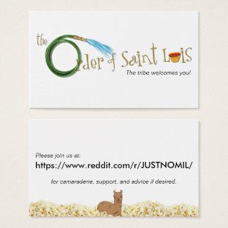La orden de la tarjeta de Luis del santo
