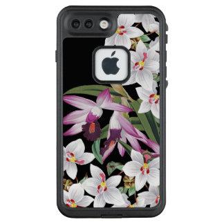 La orquídea blanca florece la caja más del iPhone