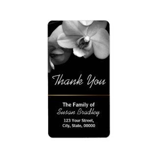 La orquídea elegante le agradece la etiqueta 1 etiquetas de dirección