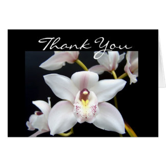 La orquídea hermosa le agradece tarjeta de felicitación