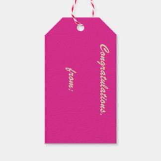La orquídea subió la etiqueta del regalo de la etiquetas para regalos