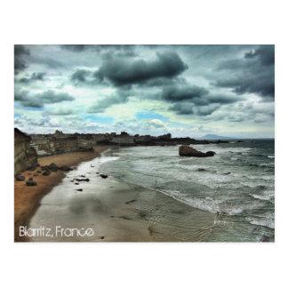 "La ""oscuridad desciende en Biarritz "" Postal"