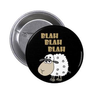 La oveja cínica divertida dice soso - soso chapa redonda de 5 cm