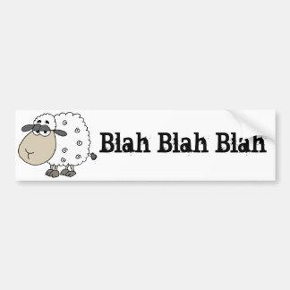 La oveja cínica divertida dice soso - soso pegatina para coche