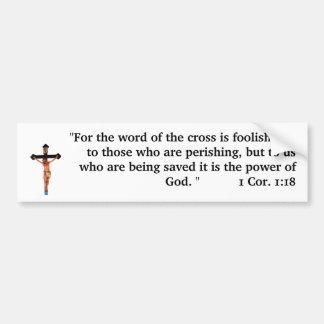 La palabra de la cruz pegatina para coche